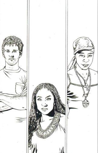 True Blood #6 Joe Corroney Black and White Sketch Variant
