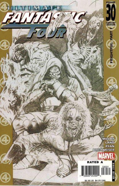 Ultimate Fantastic Four #30 Black and White Greg Land Sketch Variant