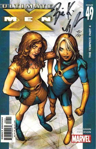 Ultimate X-Men #49 Dynamic Forces Signed Brian K Vaughan BKV NM Peterson