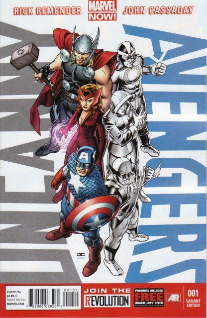 Uncanny Avengers #1 John Cassaday Avengers Variant Marvel 2012