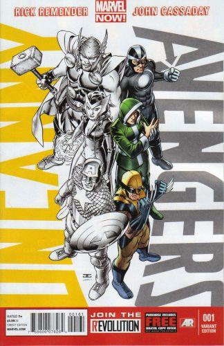 Uncanny Avengers #1 John Cassaday X-Men Variant Marvel 2012