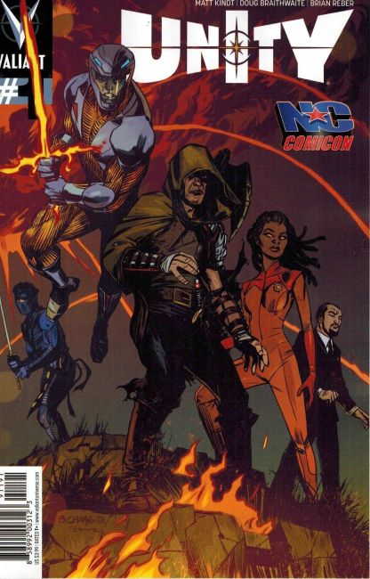 Unity #1 Tommy Lee Edwards NC Comicon Exclusive Variant Valiant rare