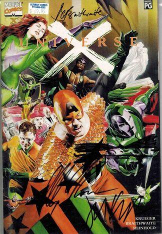 Universe X #X Dynamic Forces Signed Alex Ross Doug Braithwaite Jim Krueger COA