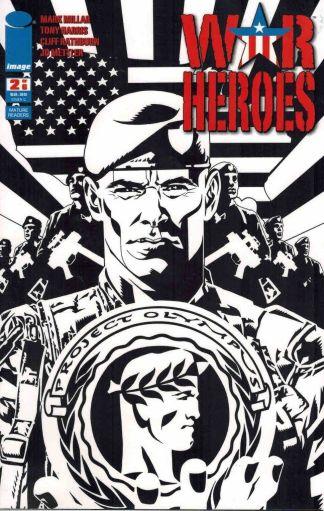 War Heroes #2 Tony Harris Black and White Sketch Variant Mark Millar