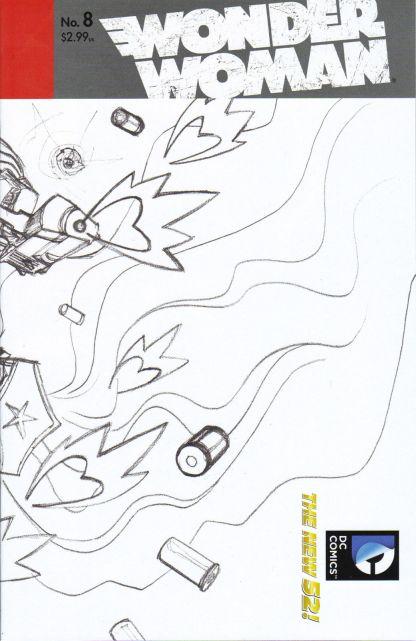 Wonder Woman #8 1:25 Cliff Chiang Sketch Variant