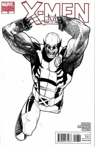 X-Men #18 1:52 Humberto Ramos Black and White Sketch Variant Marvel 2010