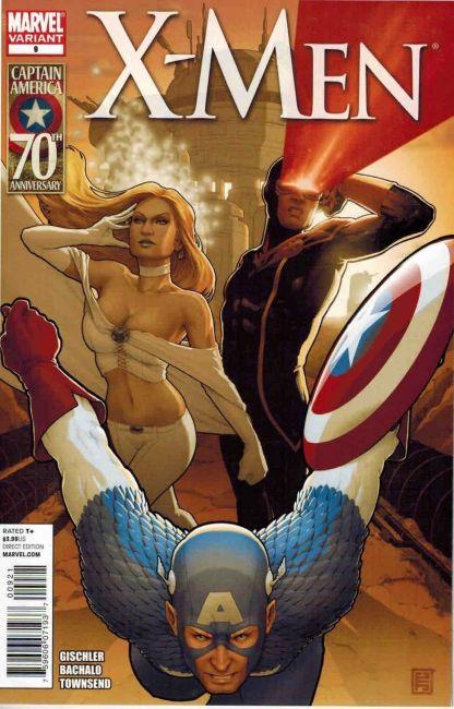 X-Men (2010) #9 John Tyler Christopher Captain America 70th Anniversary Variant