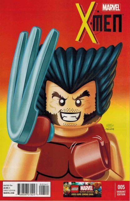 X-Men #5 1:25 Leonel Castellani Lego Color Variant Marvel NOW 2013 Wolverine #1