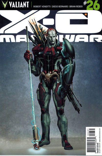 X-O Manowar #26 1:10 Clayton Crain Variant Cover Valiant