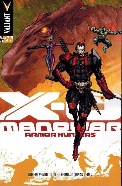 X-O Manowar #26 1:25 Trevor Hairsine Variant Cover Valiant