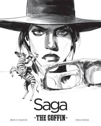 Saga #43 1:200 Fiona Staples Black Whit B&W Art Print The Coffin Image 2012
