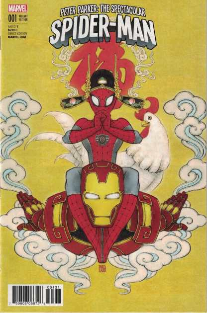 Peter Parker Spectacular Spider-man #1 1:10 Zhang Wang Year of the Roos 2017