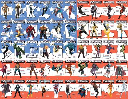 US Avengers #1 All 53 State Covers Complete Set Canada Puetro Rico Marvel 2017