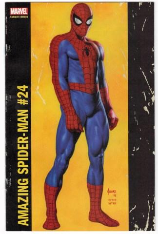 Amazing Spider-Man #24 Joe Jusko Cornerbox Variant Marvel 2015 VF/NM