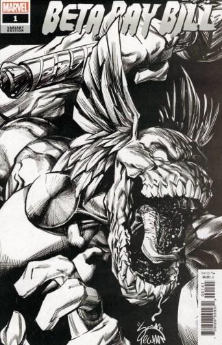 Beta Ray Bill #1 1:100 B&W Ryan Stegman Marvel 2021 Daniel Warren Johnson