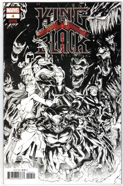 King in Black #4 1:500 B&W Ryan Stegman Marvel 2020 Donny Cates VF/NM