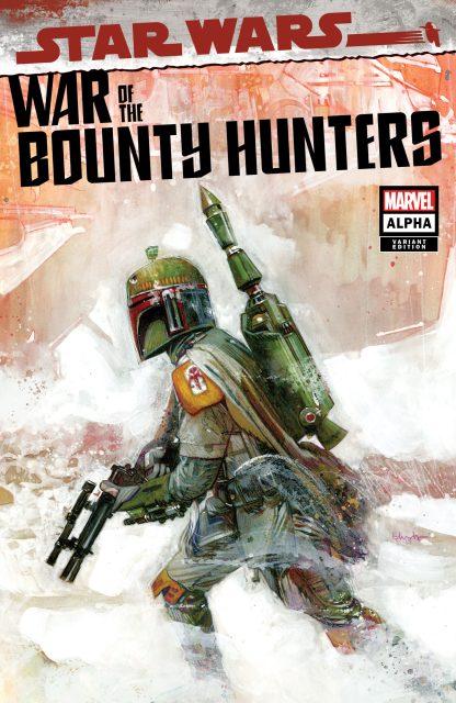Star Wars War of the Bounty Hunters Alpha #1 Tommy Lee Edwards Boba Fett Variant Logo/ Virgin Set