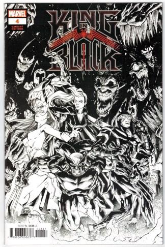 King in Black #5 1:500 Ryan Stegman B&W Variant Marvel 2020 VF/NM
