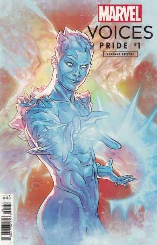 Marvels Voices Pride #1 1:25 Russell Dauterman Iceman Variant 2021