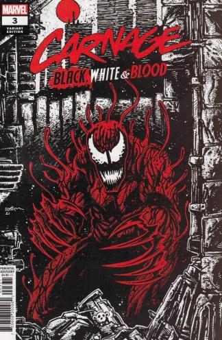 Carnage Black White & Blood #3 1:25 Kevin Eastman Variant Marvel 2021
