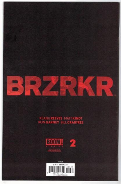 BRZRKR #2 1:50 Rafael Grampá Virgin Variant BOOM! 2020 Keanu Reeves VF/NM