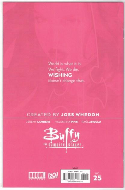 Buffy the Vampire Slayer #25 1:25 Scott Forbes Variant Boom! 2019 VF/NM