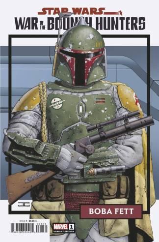 Star Wars War of the Bounty Hunters #1 1:25 John Cassaday Trading Card Variant -Ships 6/3/2021