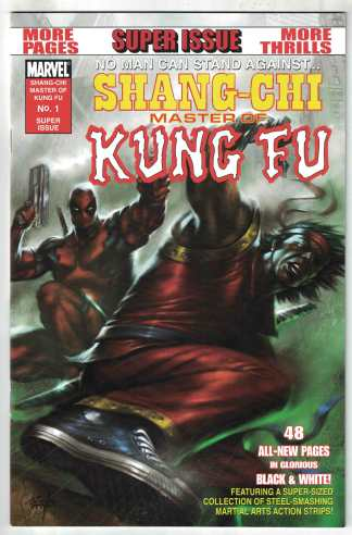 Shang-Chi Master of Kung Fu Black & White #1 Parrillo Marvel 2009 VF/NM Hickman