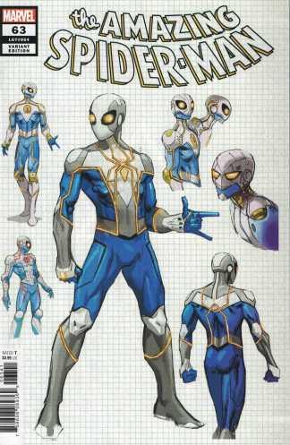 Amazing Spider-Man #63 1:25 Weaver Design Variant Marvel 2018 Spencer