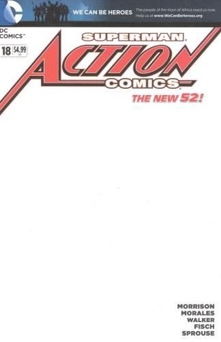 Action Comics #18 Blank Sketch Variant DC 2011 New 52 Morrison