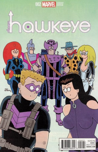 All-New Hawkeye #2 1:10 Fred Hembeck Variant Marvel 2015 2nd Series