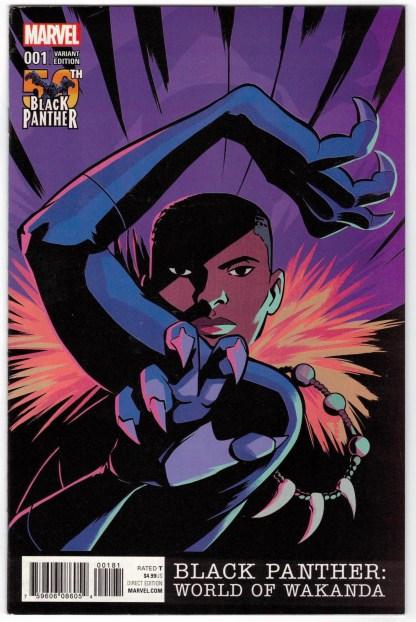 Black Panther World of Wakanda #1 1:25 Natacha Bustos Variant 2016 VF/NM