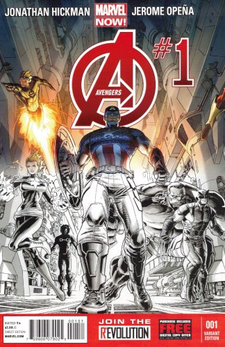 Avengers #1 Dustin Weaver One Per Store Party Sketch Variant Marvel 2013