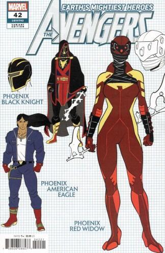 Avengers #42 1:10 Javi Garron Design Variant Marvel 2018 Phoenix