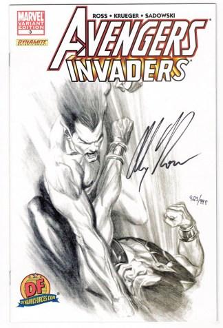 Avengers Invaders #3 DF Sketch Variant Signed Alex Ross 923/999 COA NM