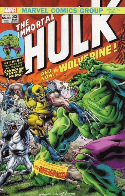 Immortal Hulk #33 Exclusive 500 Copy Joe Bennett #181 Color Variant #750
