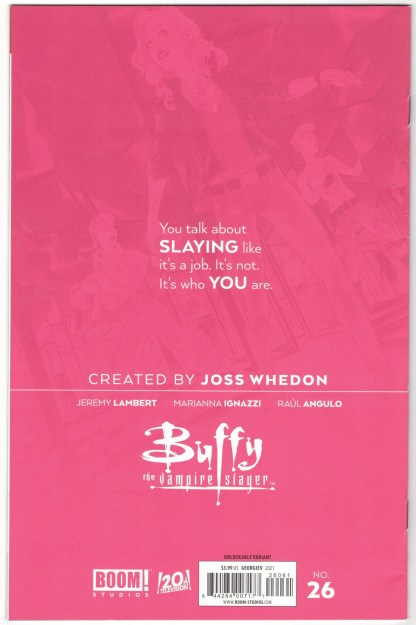 Buffy the Vampire Slayer #26 Georgiev Unlockable Virgin Variant 2019 VF/NM