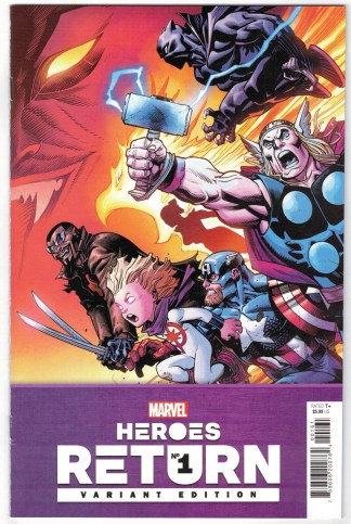Heroes Return #1 1:25 Ed McGuinness Variant Marvel 2021 Thor Black Panther VF/NM