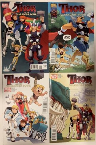 Thor & the Warriors Four #1-4 Complete Series Power Pack 2010 Gurihiru VF/NM