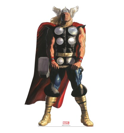 Alex Ross Marvel Timeless Collection Cardboard Standups -- Thor