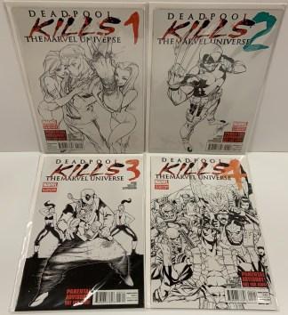 Deadpool Kills the Marvel Universe #1-4 Set Second Print Marvel 2012 VF/NM