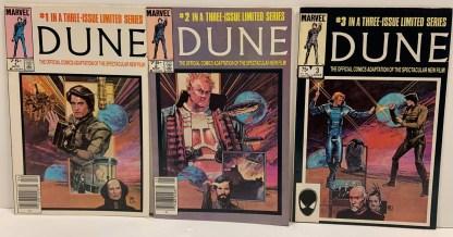 Dune Movie Adaptation Complete Set #1-3 Marvel 1985 VF/NM