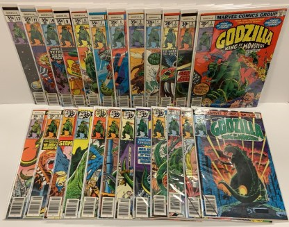 Godzilla #1-24 Complete Series Marvel King of the Monsters 1977 VF