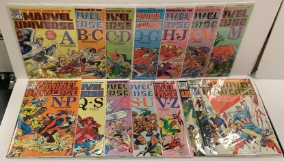 Official Handbook to Marvel Universe #1-15 Complete 1st Series Marvel 1983 VF/NM