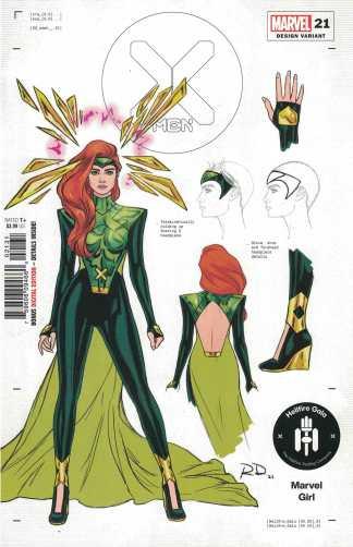 X-Men #21 1:50 Dauterman Marvel Girl Design Variant Marvel 2019 Hellfire Gala