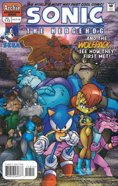 Sonic The Hedgehog #113 Spaz & Ribeiro 1st Print A CVR Archie 1993