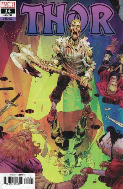 Thor #14 1:25 Klein Variant Marvel 2020 Cates