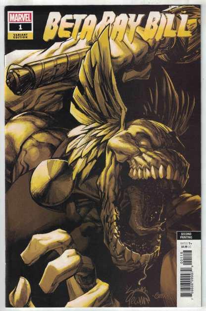 Beta Ray Bill #1 1:25 Ryan Stegman 2nd Print Gold Variant Marvel 2021 VF/NM