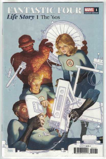 Fantastic Four Life Story #1 1:25 Paolo Rivera Variant Marvel 2021 Russell VF/NM