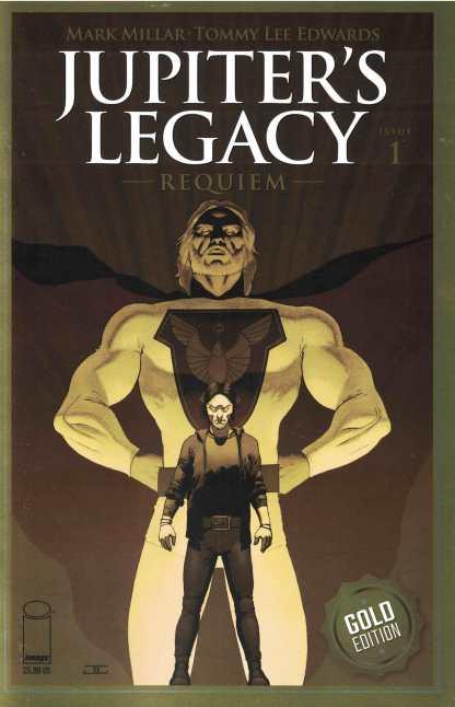 Jupiter's Legacy Requiem #1 Cassaday Gold Edition Variant Image Mark Millar 2021